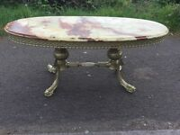 large marble coffee table