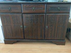 Dark brown sideboard