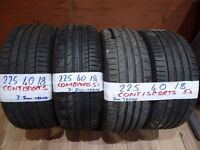 ** 225 40 18 tyres ** OPEN SUNDAY 10AM-4PM AS NEW 7mm TREAD MICHELINS GOODYEARS PIRELLIS CONTIS etc(
