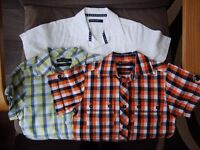 3 Marks & Spencer Autograph Boy Shirts Age 6 Excellent Condition