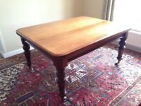 Antique Victorian Walnut dining table.