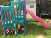 Kids Tykes playground slide tunnel garden