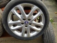 Jaguar x type alloy wheels and tyres 17