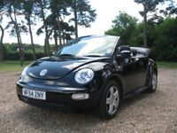 Lovely VW Beetle Cabriolet / Convertible in Black in Excellent Condition