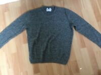 Men's top man grey jumper size small