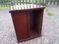 Small swivel Wood CD Rack Delivery Available