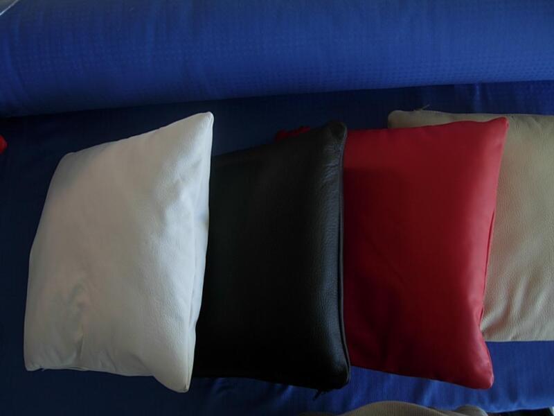 Cuscini In Pelle Per Divano.Cuscino Per Divano Made In Italy Vera Pelle Ebay