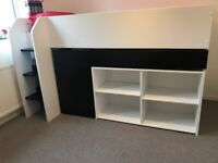 Mid Sleeper Bunk Bed With Pull Out Desk and Shelving