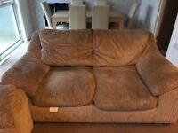 2x fabric sofas