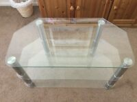 Glass TV Corner Stand In Good Condition