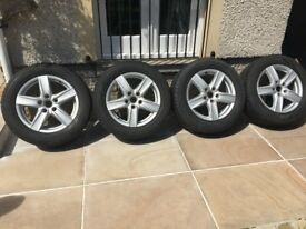 Genuine original Porsche supplied winter wheels and tyres for Porsche Cayenne in excellent condition