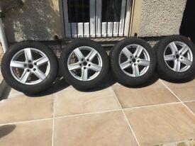 Genuine original Porsche supplied winter wheels and tyres for Porsche Cayenne in excellent condition