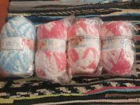 4 x Melody Super Soft Knitting Yarn