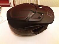 Fox motocross motorbike helmet