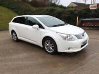 **DON'T MISS OUT+1 OWNER+ROOF RAILS+WHITE+SATNAV+TOYOTA AVENSIS TR D-4D 2.0 DIESEL (2010 YEAR)**