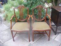 2 carver wheatsheaf chairs