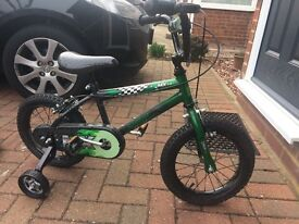 "14"" Kids bike with stabilisers. Raleigh Sunbeam MX14"