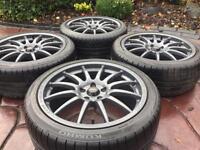 "18"" Team Dynamics 1.2 Pro Race Ford Focus ST Alloy wheel & tyres Astra Corsa VXR"