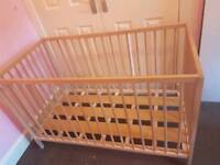 Wooden Cot - Great Condition