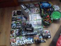 Xbox 360 120GB Console 41 Games Kinect 4 Controllers with Accessories