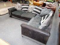 Black + Grey corner Chaise Suite…31810A