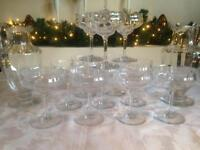 13 X BACCARAT CAPRI OPTIC CHAMPAGNE COCKTAIL SHERBERT CRYSTAL GLASSES FRENCH SIGNED