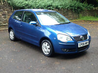 1 LADY OWNER/SUPER RELIABLE/WARRANTY!! 2006 (06) VOLKSWAGEN POLO S 55 1.2 MANUAL PETROL NEW MOT