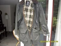 BARBOUR BORDER WAX JACKET VERY GOOD CONDITION 24INS. pit to pit