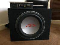 Alpine subwoofer and amp - 300W