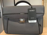 Samsonite Desklite Briefcase Laptop Bag, Grey, Brand New