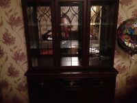 Mirror backed wooden dresser