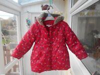 Debenhams BlueZoo coat aged 2-3yrs