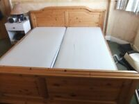SUPER KING SIZE DANISH BED WITH MATTRESSES