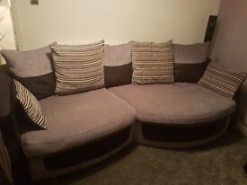 Snuggle sofa and snuggle swivel chair