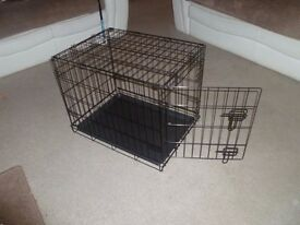 Dog cage and tray vgc