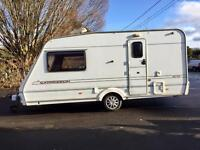 2001 Abbey Expression 2 berth caravan with Dorema awning