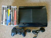 Playstation 3, Super Slim 500gb with Games