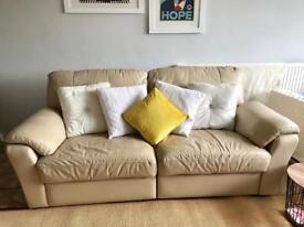 3 seater leather habitat sofa electric reclining seats
