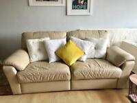 3 seater leather habitat sofa electric reclining seats