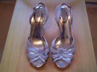 Debut Silver Sparkle Evening Sandal size 5