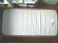 Foam mattress - single - AS NEW