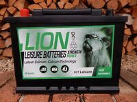 BRAND NEW Lion Leisure Battery 75Ah 2 YEAR GUARANTEE Caravan Cannal Boat Motorhome Caravan Mover