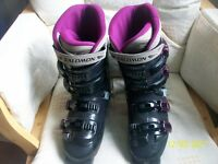 Salomon Evolution 6.0 and Head 360 ACP Ezon 8.5 Ski Boots UK Size 6