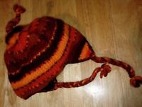 Woolly hat - warm - made in nepal - Ladies or Mens