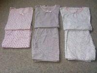 Bundle of 3 long sleeve pyjamas aged 11-12 years