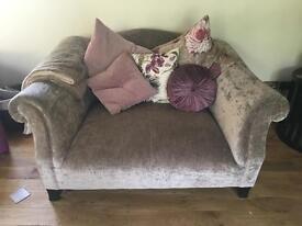 Pair of love seat sofas