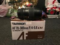 Tamron 70-300mm zoom lens canon