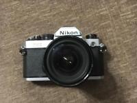 Nikon FM2 SLR Film Camera with Lenses