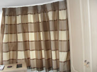 Curtains 90''w x 53''d lined, tape heading