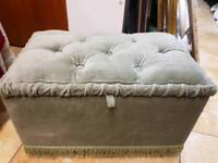 Foot stool/Pouffe light green with storage Size :H 30cm L47cm W29cm